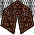 Треугольник из бисера 7
