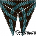 Треугольник из бисера 10