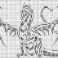 Дракон с распахнутыми крыльями