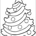 Трафарет новогодняя елка