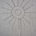 Схема герберы перенесенная на ткань