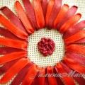Вышиваем центр цветка