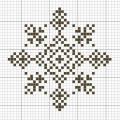 Схема снежинки 21
