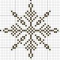 Схема снежинки 8