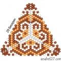 Треугольник из бисера 24