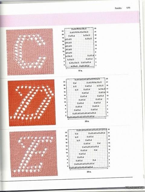 Буквы спицами 2