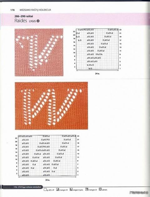 Буквы спицами 9