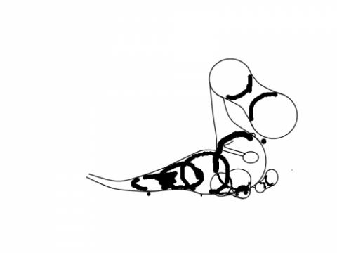 Рисование дракона - шаг 7