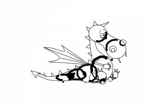 Рисование дракона - шаг 10