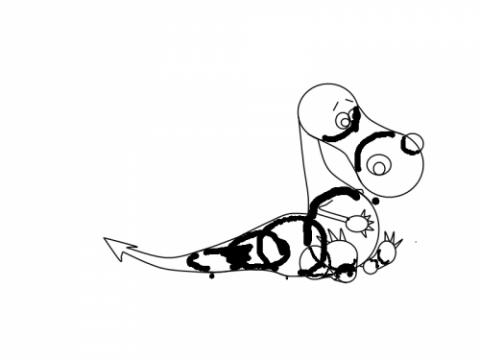 Рисование дракона - шаг 9