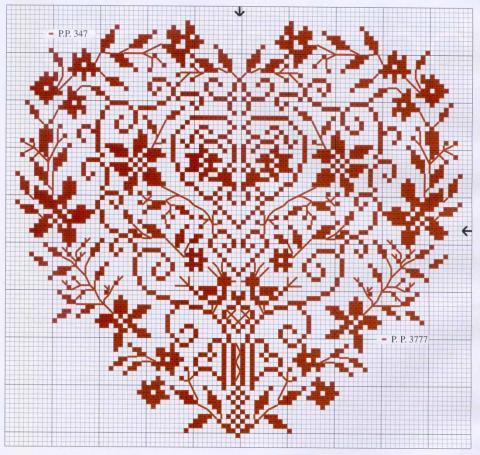 Сердце с орнаментом