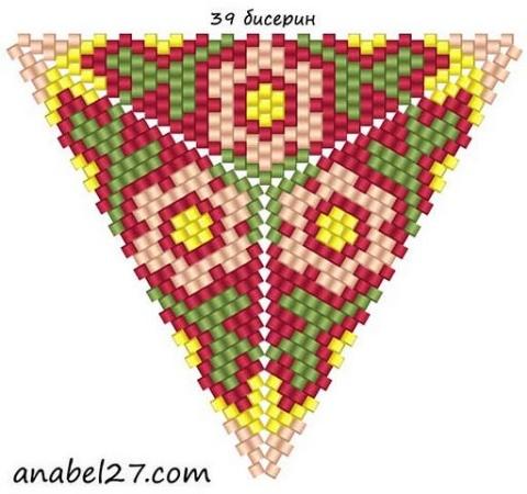 Треугольник из бисера 16