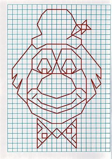 Рисунок по клеткам Клоун