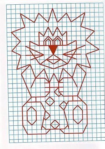 Рисунок по клеткам Лев