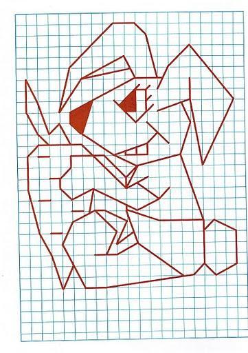 Рисунок по клеткам Заяц