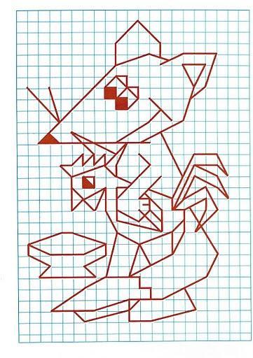 Рисунок по клеткам Лиса