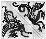 Стилизованные дракон и пегас