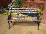 Декупаж садовой скамейки