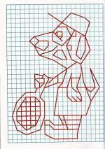 Рисунок по клеткам Собака